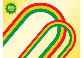 Vecteurs de lignes colorées