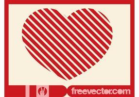Striped Heart Vector