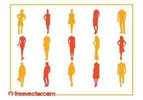 Fashion Silhouettes Vectors