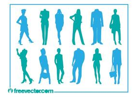 Fashion Silhouettes Vector