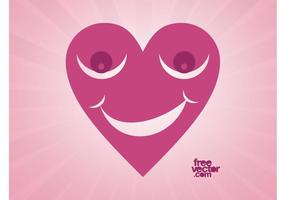 Happy Heart Vector