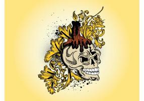 Dibujo del vector del cráneo