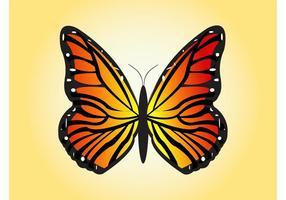 Vector de mariposa de vuelo