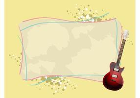 Gitarren-Hintergrund Vektor