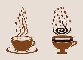 Vector tazas de café