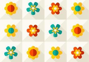 modernt blommigt vektormönster