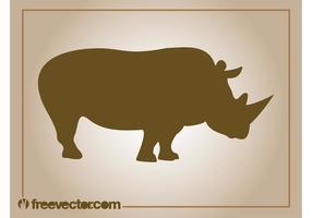 Vecteur rhinocéros