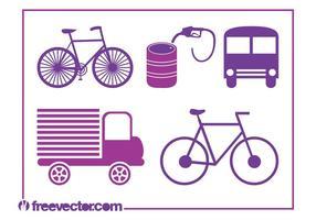 Transport Icons Vectors