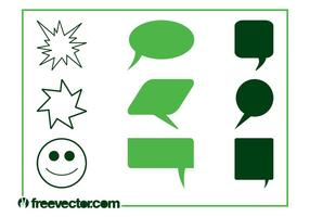 Vector Speech Balloons
