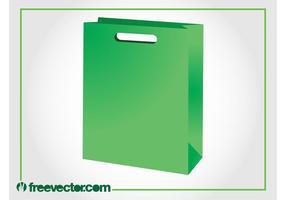 Green Paper Bag Vector