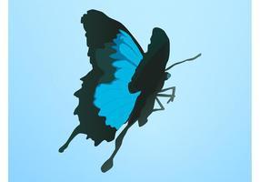 Blå fjäril vektor