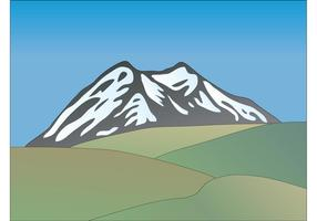 Vector de paisaje de montaña