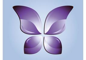 Lila fjärilvektor