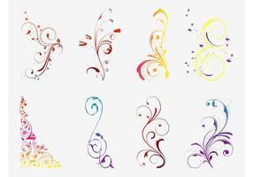Vector Floral Scrolls