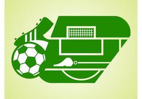 Champ de soccer vectoriel