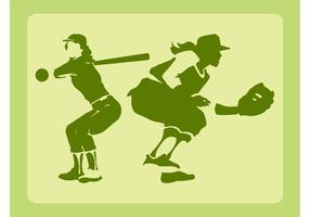 Baseball Girls Vector
