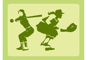 Vetor meninas baseball