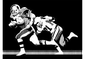 Amerikansk fotboll vektorgrafik