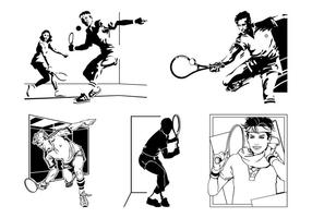 Vector Tennis Spelers