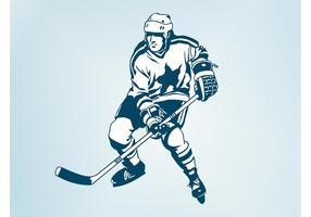 Joueur de hockey sur vecteur