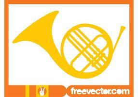 Französisch Horn Vektor