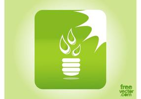 Groene verlichtingsknop