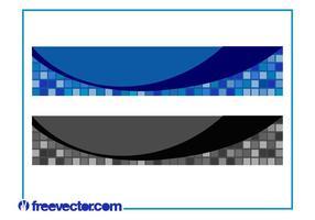 Diseños de la bandera del vector