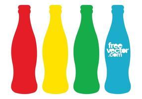 Botellas coloridas del contorno de la bebida