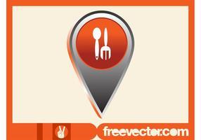 Icône de pointeur alimentaire