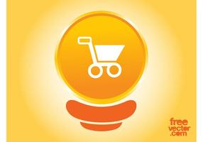 Bouton Orange Shopping Cart