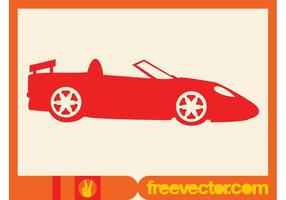 Red Convertible Silhouette Icon