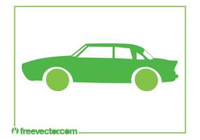 Green Retro Car Icon