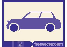 Purple Vector Car