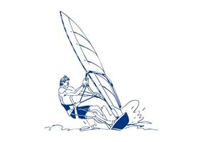 Vindsurfing man design