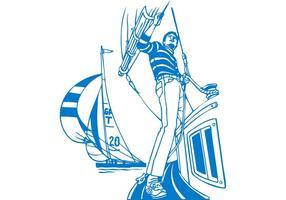 Homem de barco