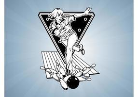 Weiblicher Bowlingspieler