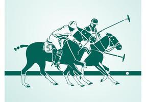 Polo-Spieler Silhouetten