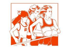 Ejecución de atletas gráficos
