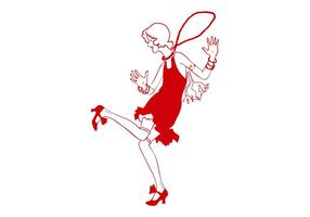 Retro dansande kvinna