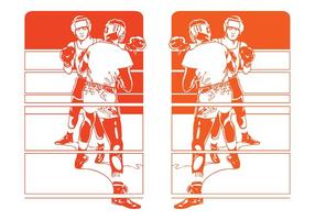 Vector-boxing-match-designs