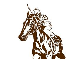 Jockey no cavalo
