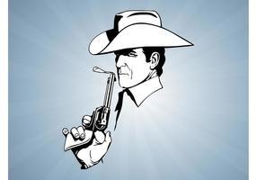 Cowboy med pistol
