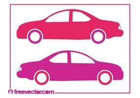 Siluetas de coches estilizados