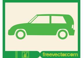 Grüne Auto-Symbol