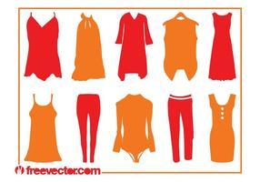Silhuetas de roupas