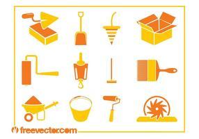 Bauwerkzeuge Icons
