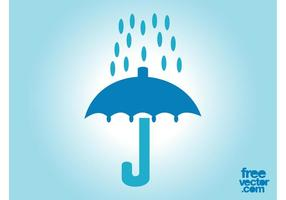 Regenschirm und Regen Icon