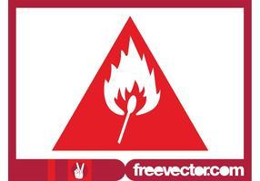 Signal d'avertissement de danger d'incendie