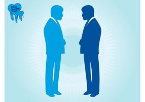 Vecteurs de silhouettes d'hommes d'affaires