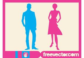 Man And Woman Silhouettes